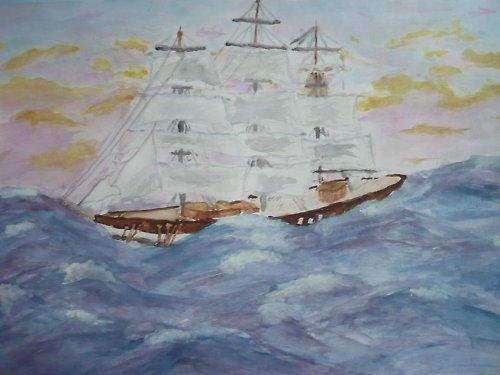 V širém moři