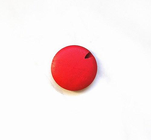 Dřevěný korálek, placatý, 25 mm - 1 kus