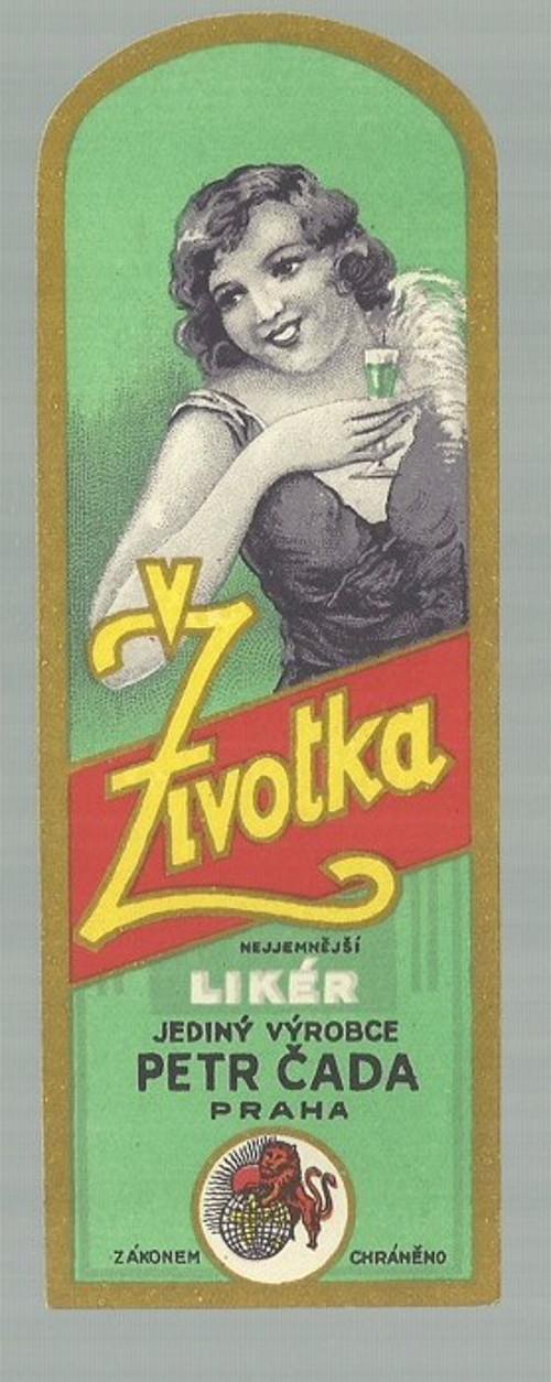Etiketa Životka likér, Petr Čada