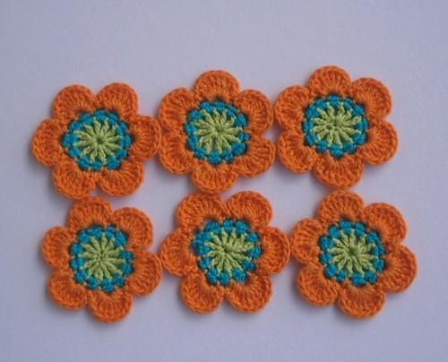 Sada květů oranžových