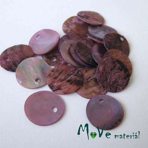 Perleťové penízky 13mm, 10ks, růžovofialové
