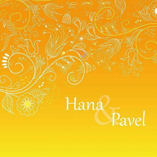 Svatební oznámení - Jemně oranžová
