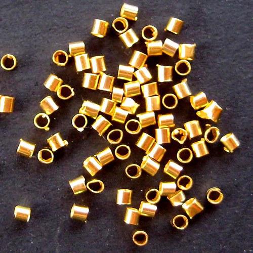 Trubičkový Rokajl 1,5mm - 100ks - Zlatý