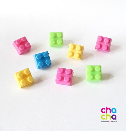 Lego náušnice-pecky