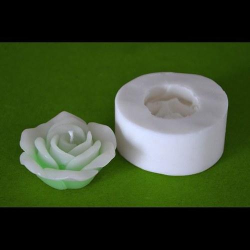 Forma na svíčky Květ růže malá průměr 5,5cm