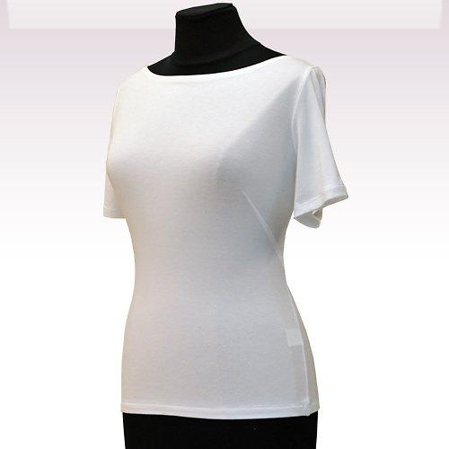 Bílé tričko belaroma krátký rukáv, lodičkový výs
