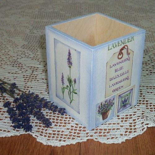 Krabička na tužky - levandulová