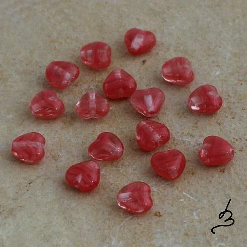 Srdíčka červená - 40 ks