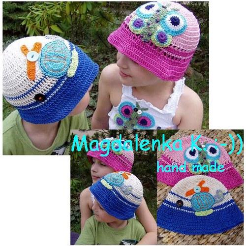 JÁ NA BRÁCHU.... sada kloboučků pro sourozence
