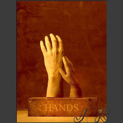 Fotomontáž  Viditelné ruce trhu