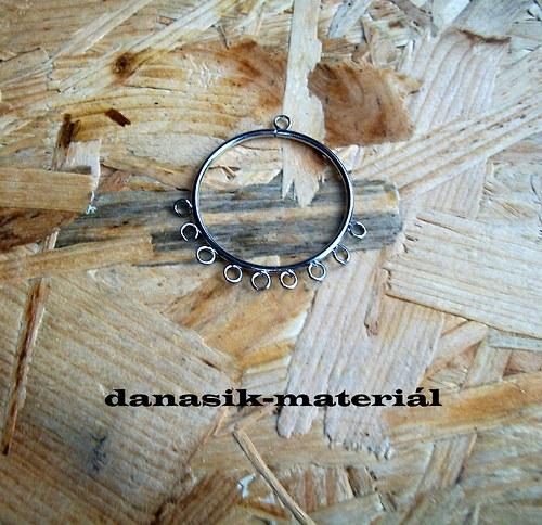 PLATINOVÝ KRUH 35 mm S OČKY - 1 kus