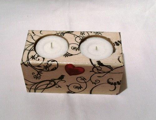 svícen na 2 svíčky