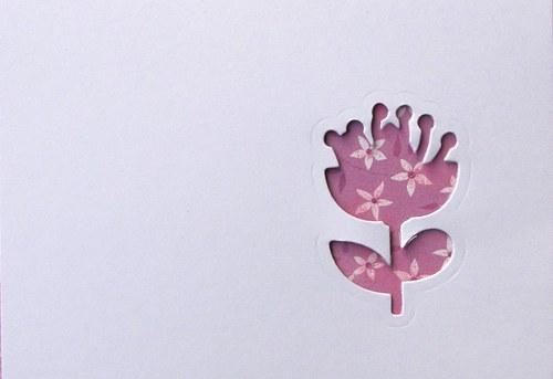 Stránka s květinou na šířku - barva podle přání