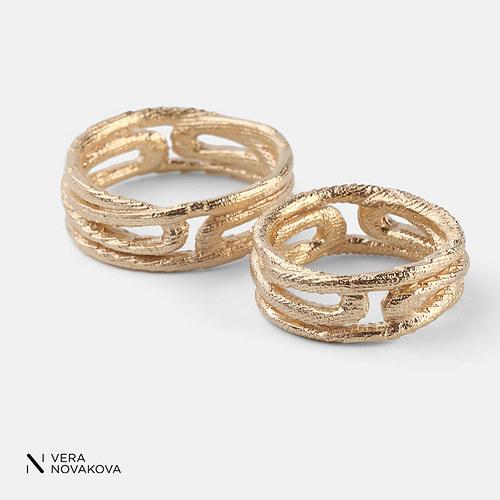 Snubní prsteny Ornament - zlato