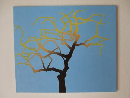 Podzim v jabloni, olej na plátně 50x60 cm