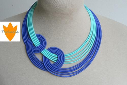 Náhrdelník Modravé ráno © design Terinela