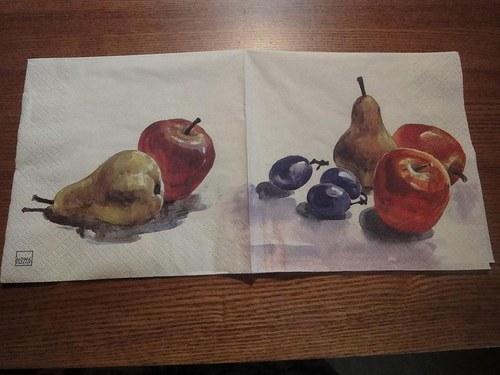 Ubrousek na decoupage - ovoce