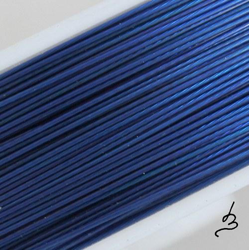 Ocelové lanko modré TM 0,38