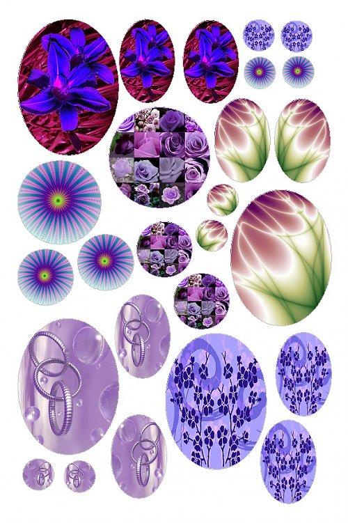 mix motivů fialových