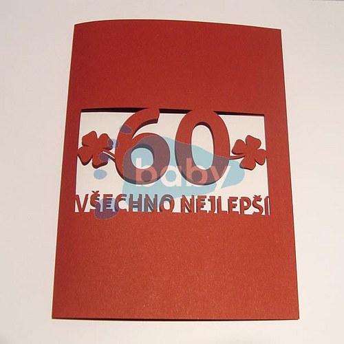 Narozeninové přání čtyřlístky cca 10 x 15 cm