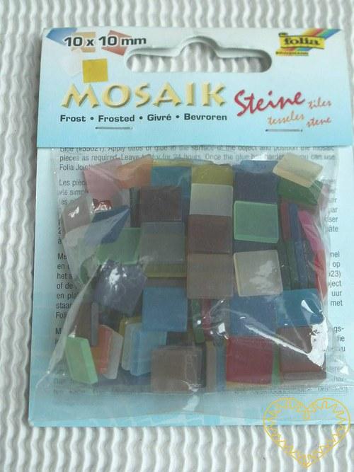 Ledová mozaika - mix barev - 45 g -větší čtverečky