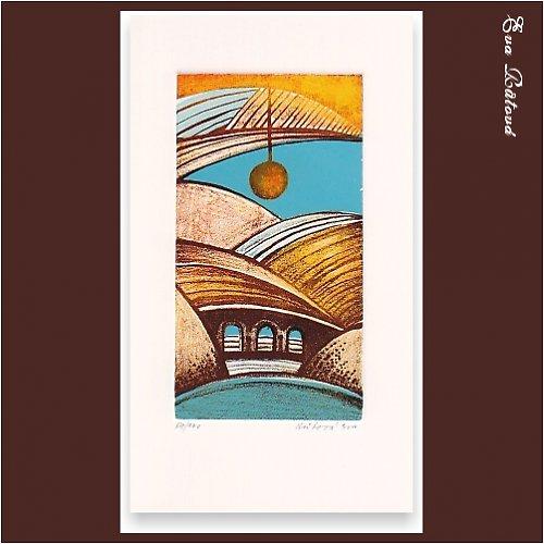Originál litografie - SVĚTLO NA CESTU
