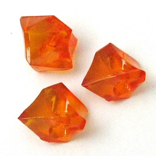 Akrylové krystaly - oranžová - 5 ks