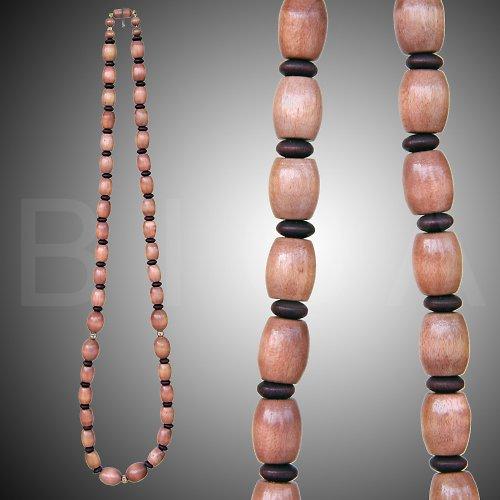 dřevěný náhrdelník béžová