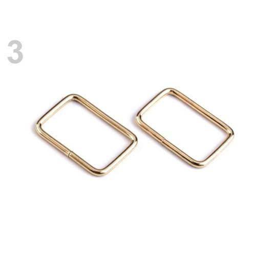 Průvlek 13x20 mm (10ks) - zlatá