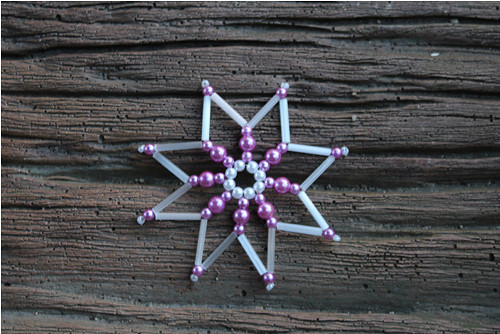 8 cípá hvězdička - fialovobílá