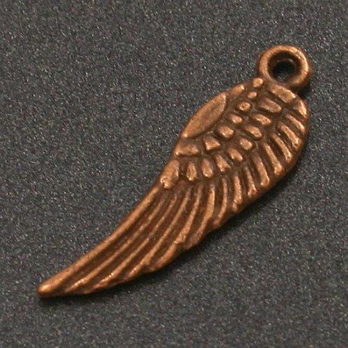Přívěsek - měděné křídlo 1,7 cm (2 ks)