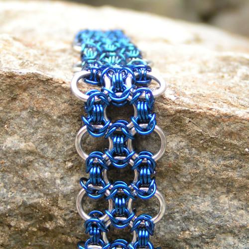 Bastardized Byzantine modrý - náramek