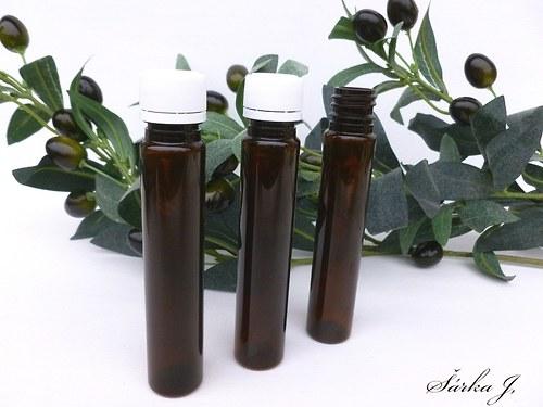 lahvička - ampule hnědá - s těsnícím uzávěrem