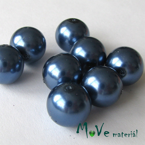České voskové perle modré 12mm 8ks (cca 20g)