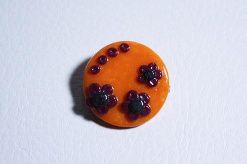 oranžová kytičková