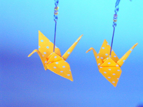 Sluneční  jeřábi - náušnice