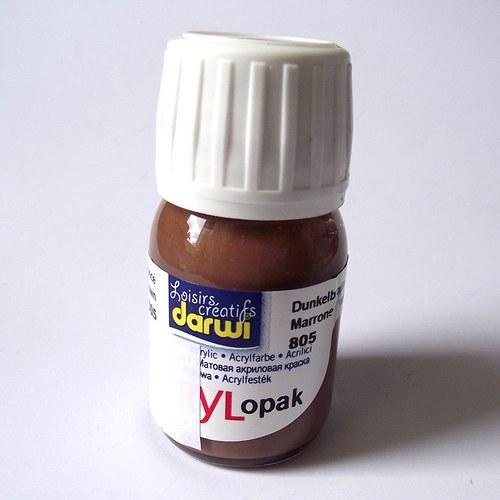 Akrylová barva OPAK krycí - 30 ml - hnědá