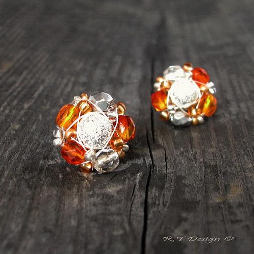 Náušničky Orange Diamonds...