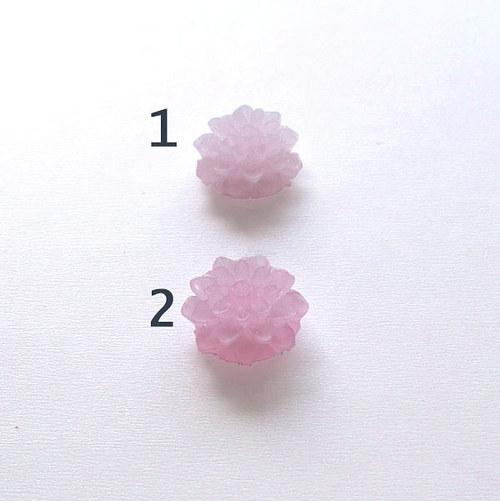 květinka/ zamrzlá/ 15mm/ fialová sv.č.2/ 2ks