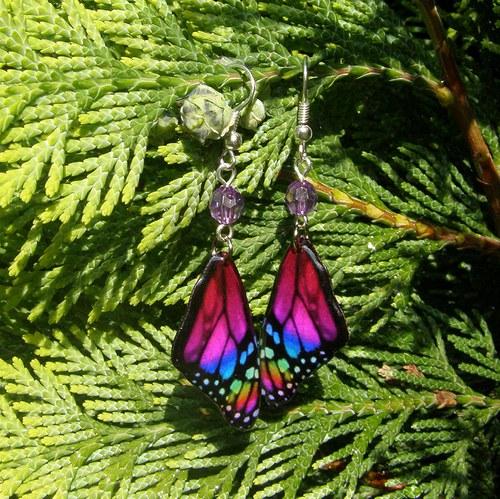 Náušnice motýl - mot1