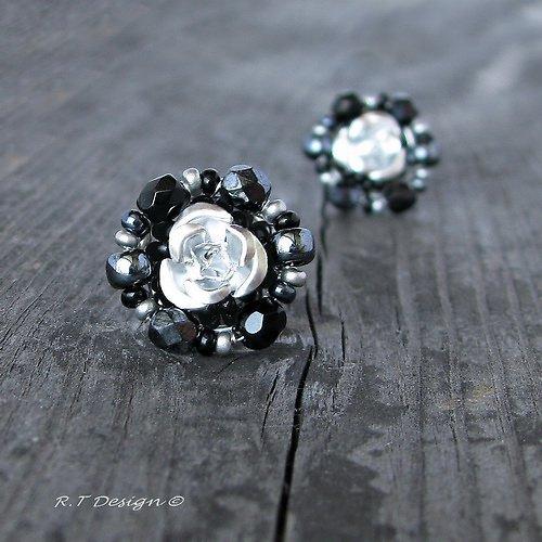 Náušničky Silver Rose...