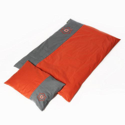 Povlečení oranžovo-šedé