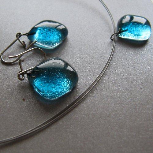 souprava skleněných šperků