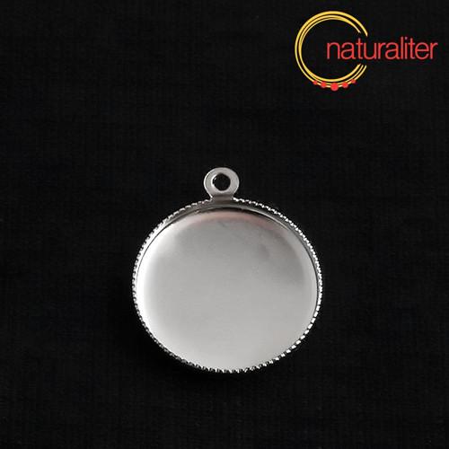 Lůžko kruh 15mm platinová barva