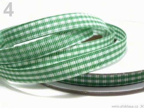 Stuha károvaná š.10mm zelená