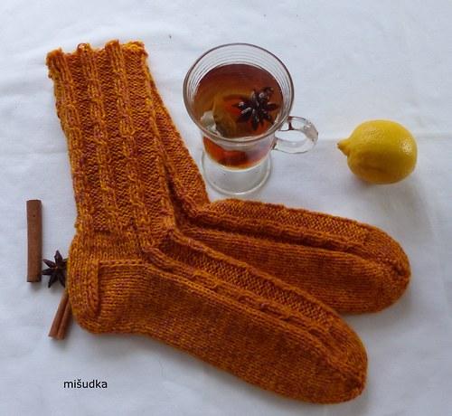 Ponožky jako od maminky -  oranžové 7