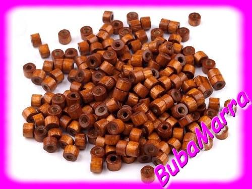 AKCE ~ 1+1 ZDARMA ~ dřevěné korálky 3x4mm ~ 200ks