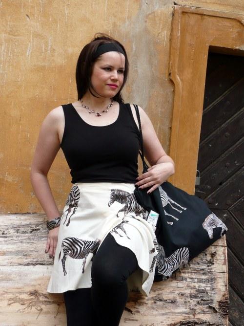 DeaDia sukně Zebra mini