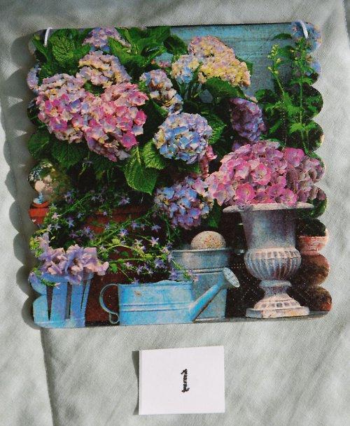 Dekorativní obrázek - zátiší s květinami