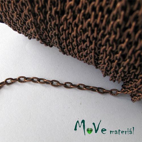 Řetízek kovový šíře 4x3mm, délka 1m, staroměď